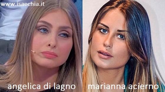 Somiglianza tra Angelica Di Lagno e Marianna Acierno