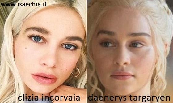 Somiglianza tra Clizia Incorvaia e Daenerys Targaryen