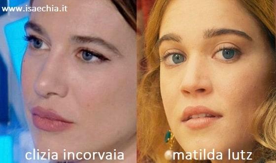 Somiglianza tra Clizia Incorvaia e Matilda Lutz
