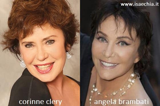 Somiglianza tra Corinne Clery e Angela Brambati dei 'Ricchi e Poveri'
