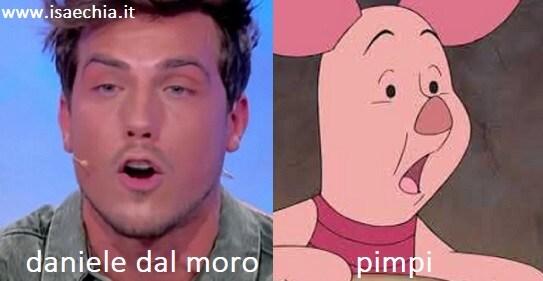 Somiglianza tra Daniele Dal Moro e Pimpi