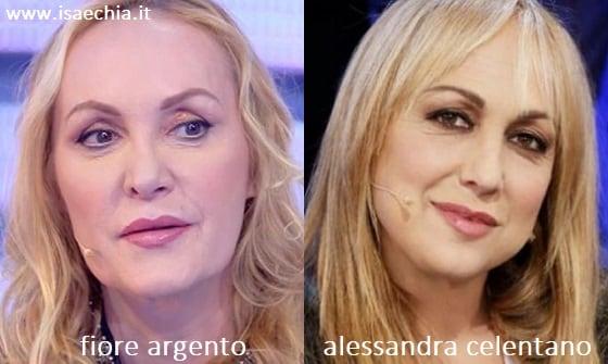 Somiglianza tra Fiore Argento e Alessandra Celentano