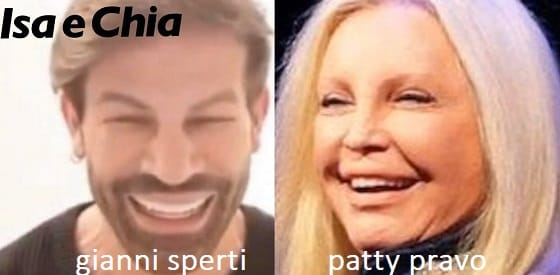 Somiglianza tra Gianni Sperti e Patty Pravo