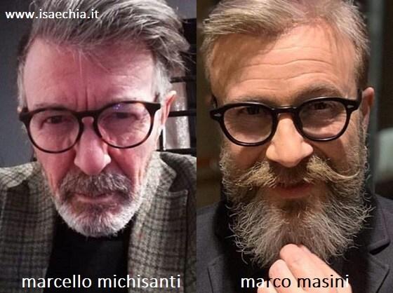 Somiglianza tra Marcello Michisanti e Marco Masini