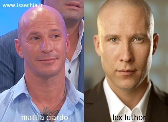 Somiglianza tra Mattia Ciardo e Lex Luthor di 'Smallville'