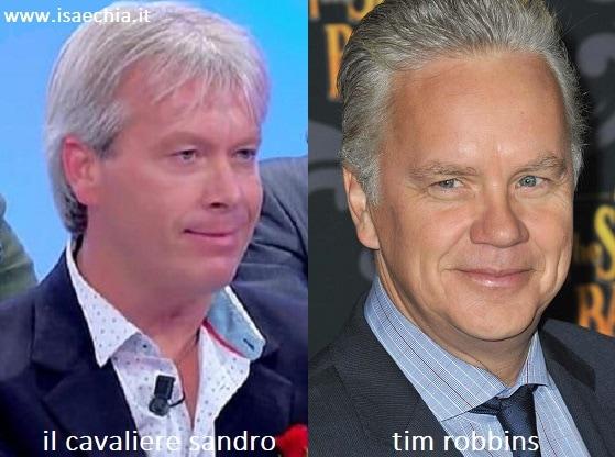 Somiglianza tra Sandro, cavaliere del Trono over di 'Uomini e Donne', e Tim Robbins
