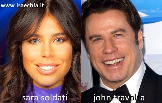 Somiglianza tra Sara Soldati e John Travolta