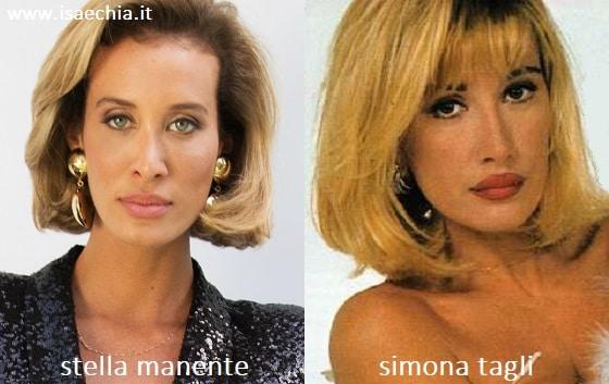 Somiglianza tra Stella Manente e Simona Tagli