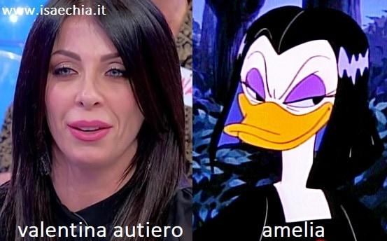 Somiglianza tra Valentina Autiero e Amelia