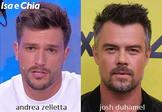 Somiglianza tra Andrea Zelletta e Josh Duhamel