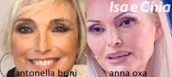 Somiglianza tra Antonella Brini e Anna Oxa