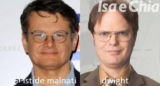 Somiglianza tra Aristide Malnati e Dwight
