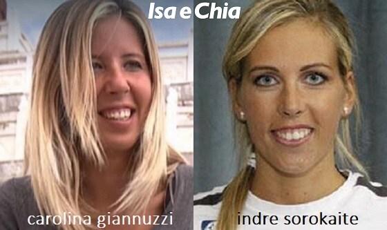 Somiglianza tra Carolina Giannuzzi e Indre Sorokaite