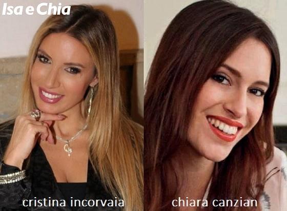 Somiglianza tra Cristina Incorvaia e Chiara Canzian