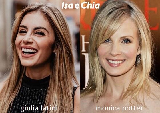 Somiglianza tra Giulia Latini e Monica Potter