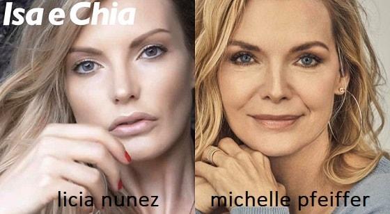 Somiglianza tra Licia Nunez e Michelle Pfeiffer