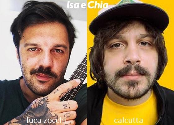 Somiglianza tra Luca Zocchi e Calcutta