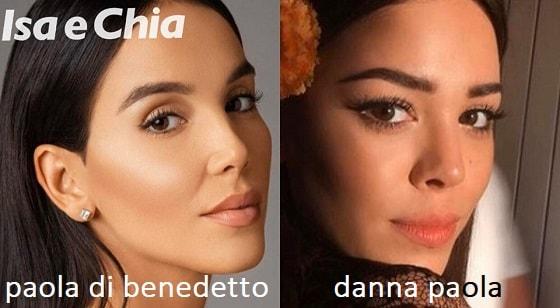 Somiglianza tra Paola Di Bendetto e Danna Paola
