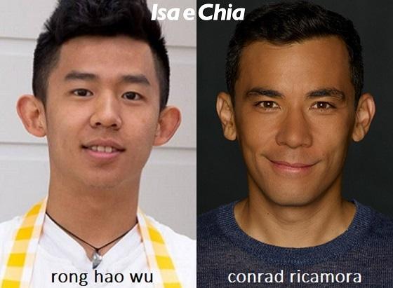 Somiglianza tra Rong Hao Wu di 'Bake Off Italia' e Conrad Ricamora
