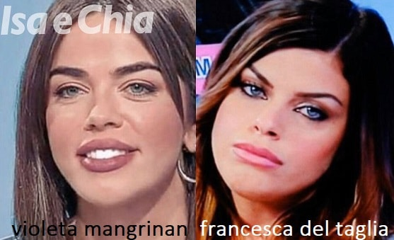Somiglianza tra Violeta Mangrinan e Francesca Del Taglia