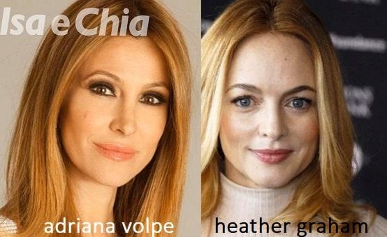 Somiglianza tra Adriana Volpe e Heather Graham