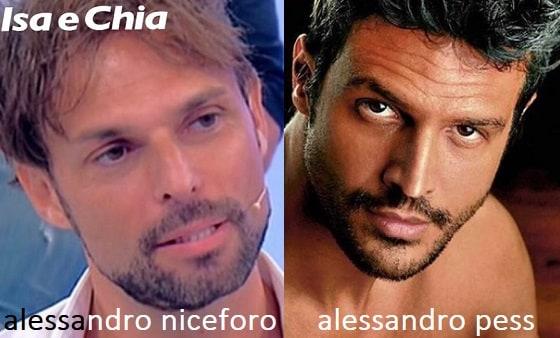 Somiglianza tra Alessandro Niceforo e Aessandro Pess