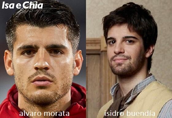Somiglianza tra Alvaro Morata e Isidro Buendía de 'Il Segreto'