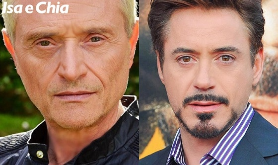 Somiglianza tra Amedeo Minghi e Robert Downey Jr