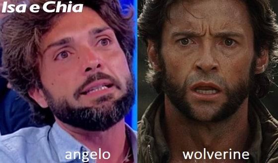 Somiglianza tra Angelo e Wolverine