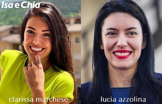 Somiglianza tra Clarissa Marchese e Lucia Azzolina
