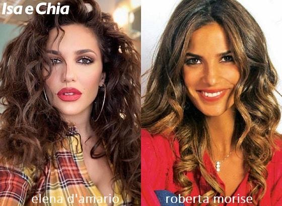 Somiglianza tra Elena D'Amario e Roberta Morise