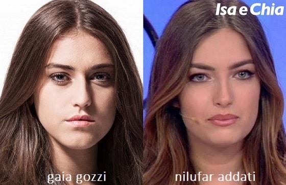 Somiglianza tra Gaia Gozzi e Nilufar Addati