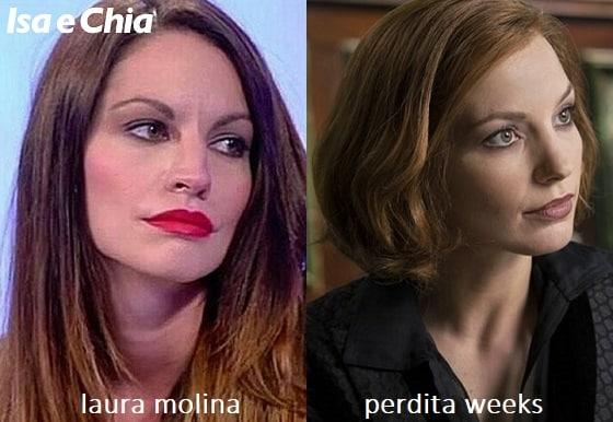 Somiglianza tra Laura Molina e Catriona Hartdegen di 'Penny