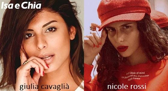 Somiglianza tra Nicole Rossi e Giulia Cavaglià