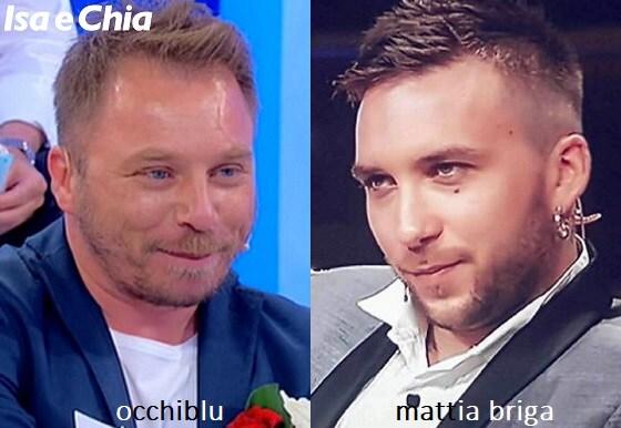 Somiglianza tra OcchiBlu, corteggiatore di Gemma Galgani nel Trono over, e Mattia Briga
