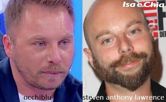 Somiglianza tra Occhiblu e Steven Anthony Lawrence