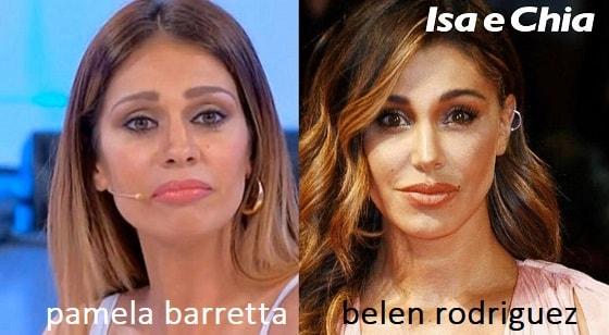 Somiglianza tra Pamela Barretta e Belen Rodriguez
