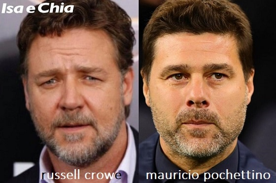 Somiglianza tra Russell Crowe e Mauricio Pochettino
