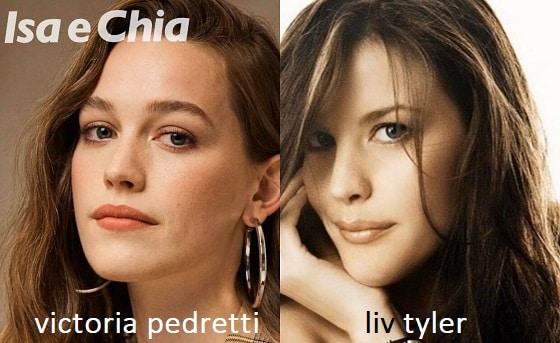 Somiglianza tra Victoria Pedretti e Liv Tyler