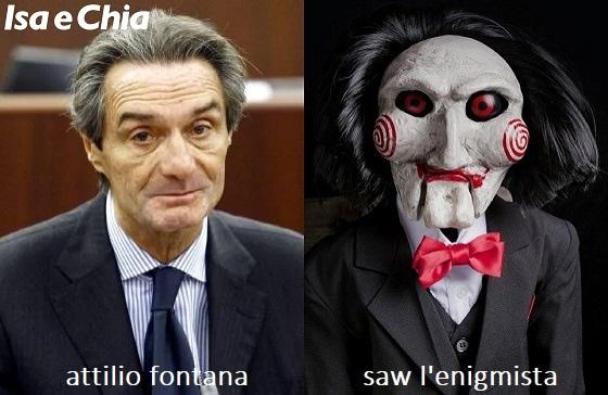 Somiglianza tra Attilio Fontana e Saw l'Enigmista