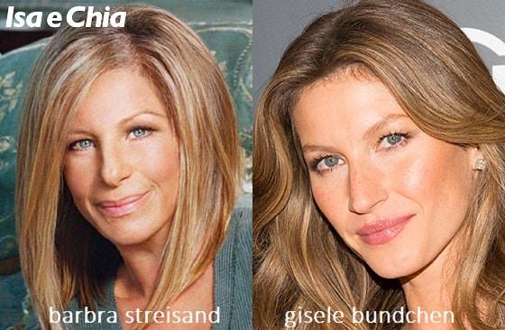 Somiglianza tra Gisele Bündchen e Barbra Streisand