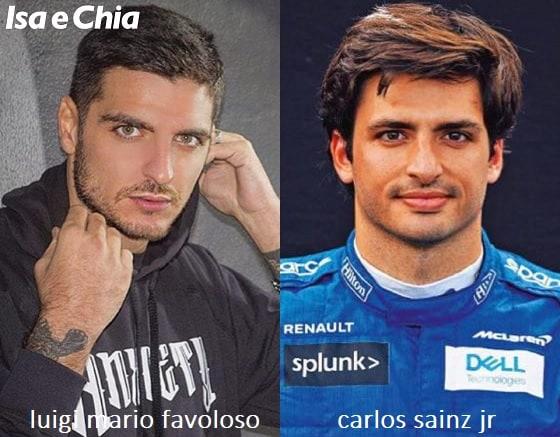 Somiglianza tra Luigi Mario Favoloso e Carlos Sainz Jr.