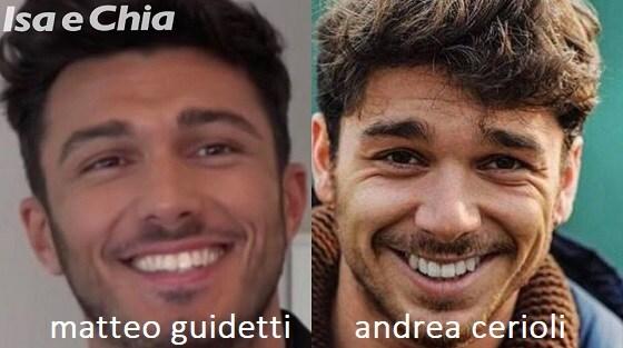 Somiglianza tra Matteo Guidetti e Andrea Cerioli