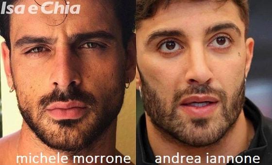 Somiglianza tra Michele Morrone e Andrea Iannone