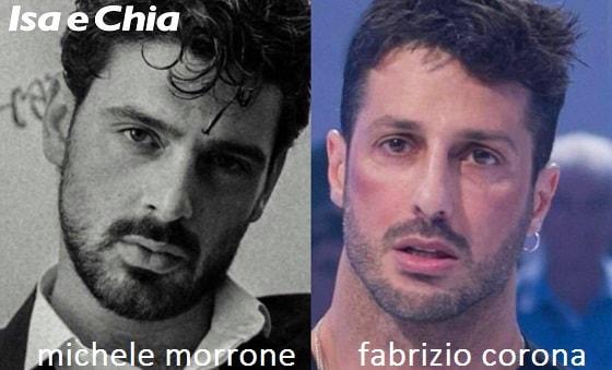 Somiglianza tra Michele Morrone e Fabrizio Corona