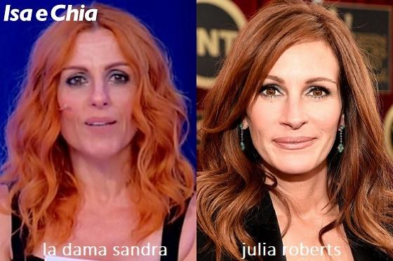 Somiglianza tra Sandra, dama del Trono over di 'Uomini e Donne', e Julia Roberts
