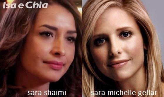 Somiglianza tra Sara Shaimi e Sarah Michelle Gellar