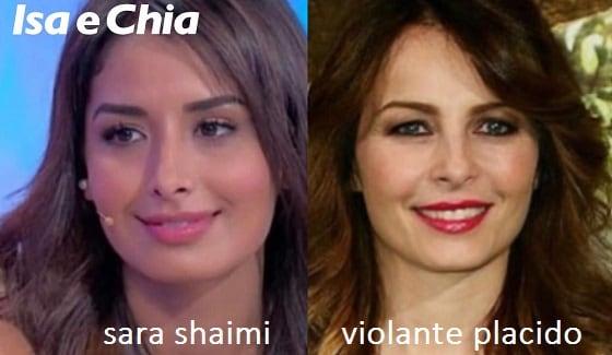 Somiglianza tra Sara Shaimi e Violante Placido