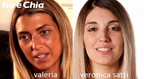 Somiglianza tra Valeria e Veronica Satti