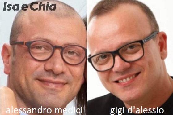 Somiglianza tra Alessandro Medici e Gigi D'Alessio